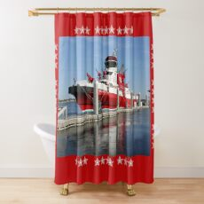343 ~ FDNY's New Fireboat on Route to New York  Shower Curtain