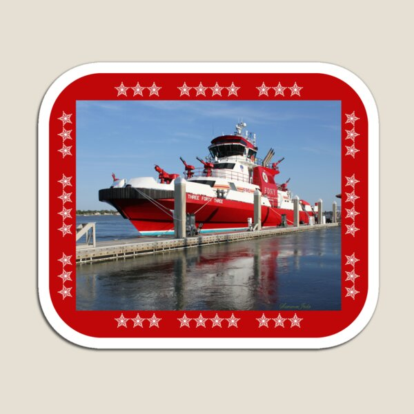 343 ~ FDNY's New Fireboat on Route to New York  Magnet