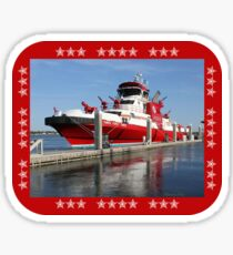 343 ~ FDNY's New Fireboat on Route to New York  Sticker
