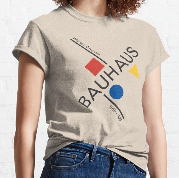 Bauhaus Movement Poster Artwork, 1919 Walter Gropius Reproduction, tshirt, tee, jersey, poster, artwork Classic T-Shirt