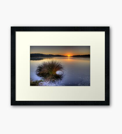 Awakening - Narrabeen Lakes, Sydney - The HDR Experience Framed Print