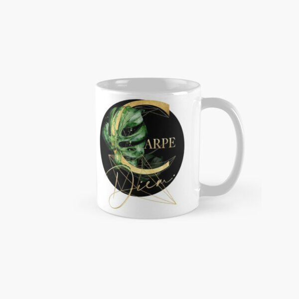Carpe Diem – Inspiring quote in gold. Classic Mug