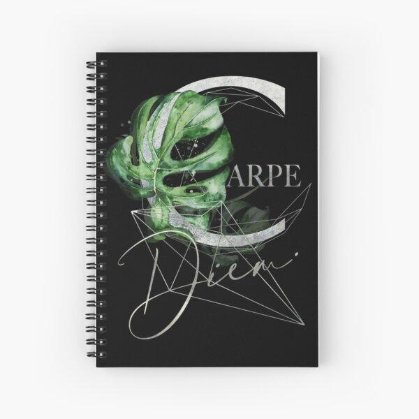 Carpe Diem – Inspiring quote in silver Spiral Notebook