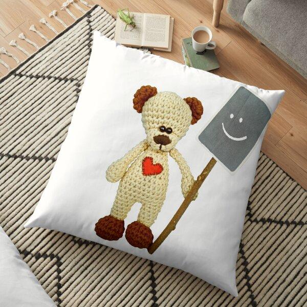 Crochet Teddy Bear Head pillow / Round pillow for kids / | Etsy | 600x600