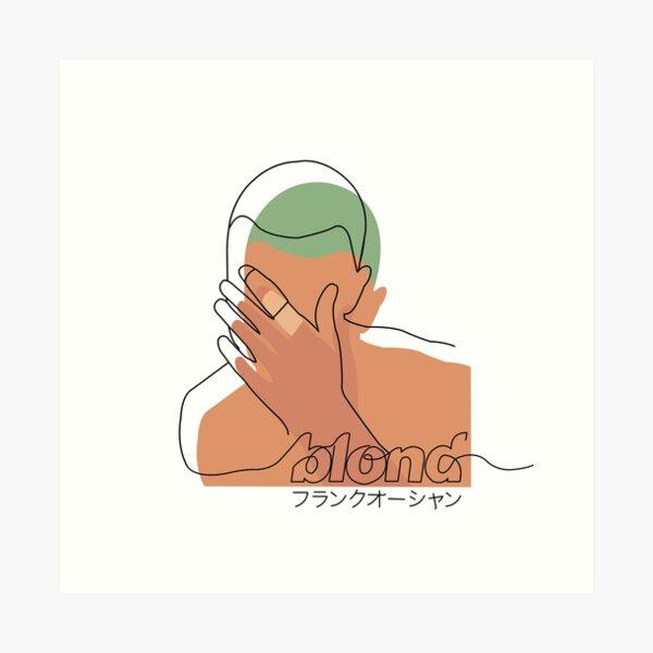 Minimalistic Frank Ocean Blond  Art Print