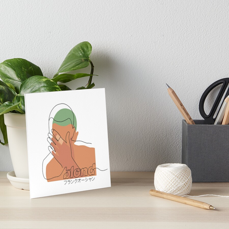 Minimalistic Frank Ocean Blond  Art Board Print