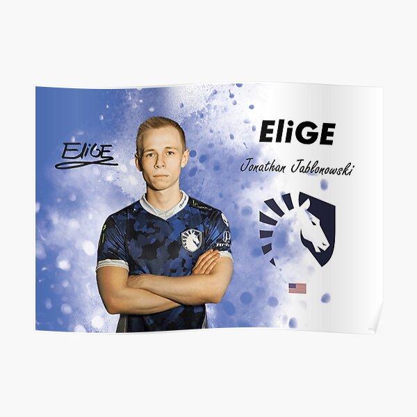 EliGE csgo pro Team Liquid Poster
