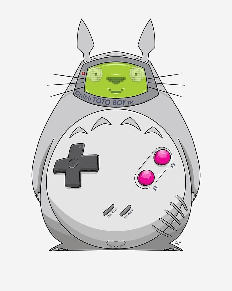 Game Boy Totoro by crabro