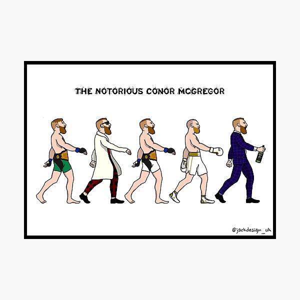 La evolución de Conor McGregor Lámina fotográfica