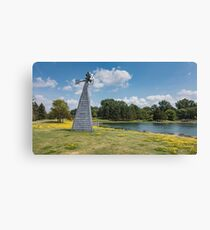 Windmill in a park Canvas Print