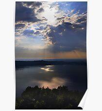 Lake landscape Poster