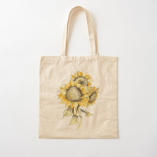 Yellow Sunflowers Cotton Tote Bag