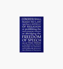 FIRST AMENDMENT FREEDOM OF SPEECH  Art Board Print