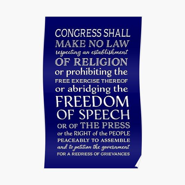 FIRST AMENDMENT FREEDOM OF SPEECH  Poster