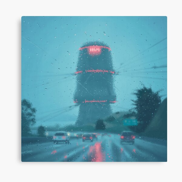 The Electric State / Raindrops Canvas Print