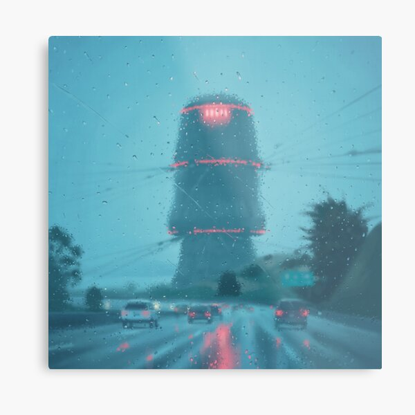 The Electric State / Raindrops Metal Print