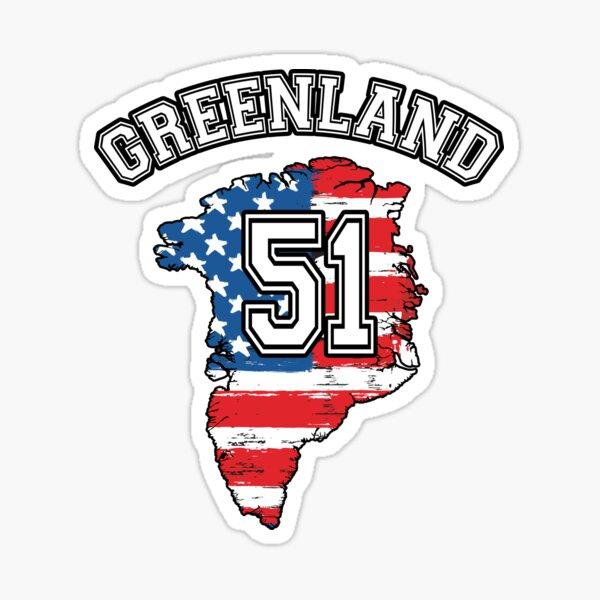 Greenland 51st State USA American Flag Political Sticker