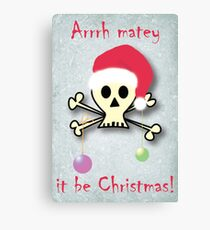 Pirate christmas Canvas Print