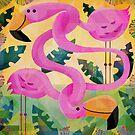 Flamingos! by Gareth Lucas