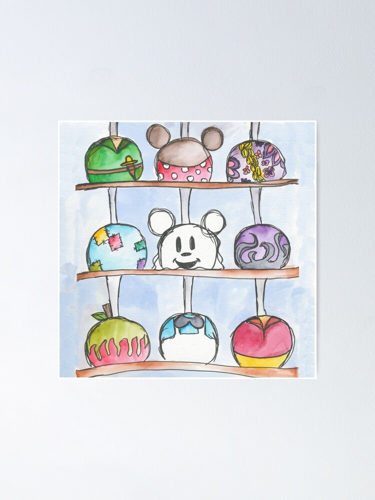 Caramel Apples Poster By Sammybaxterart Redbubble