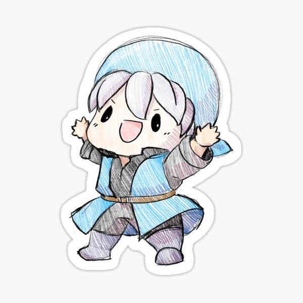 Smash Brothers Ultimate Yuusha Hero Blue Cute Chibi Sticker