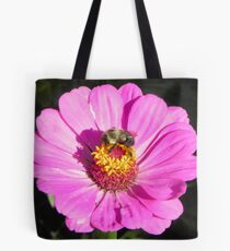 Bee and Pink Flowe Tyler Rose Garden Center Tote Bag
