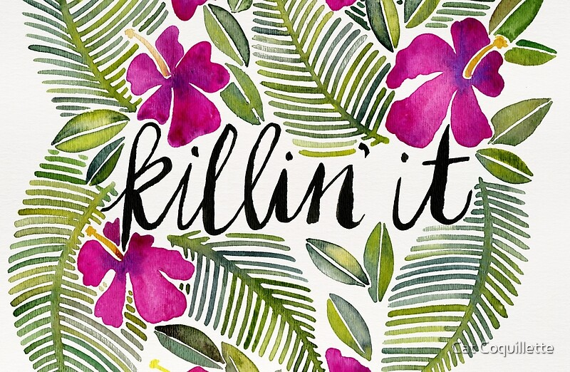 Quot Killin It Tropical Pink Quot Laptop Skins By Cat