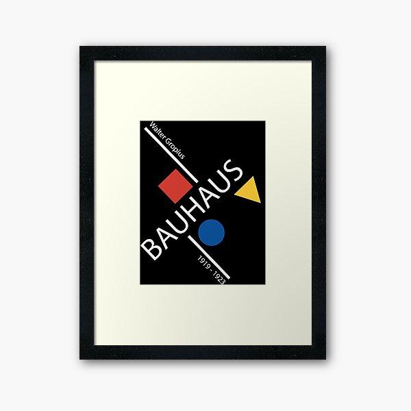 Bauhaus Movement Poster Artwork, 1919 Walter Gropius Reproduction, tshirt, tee, jersey, poster, artwork Framed Art Print