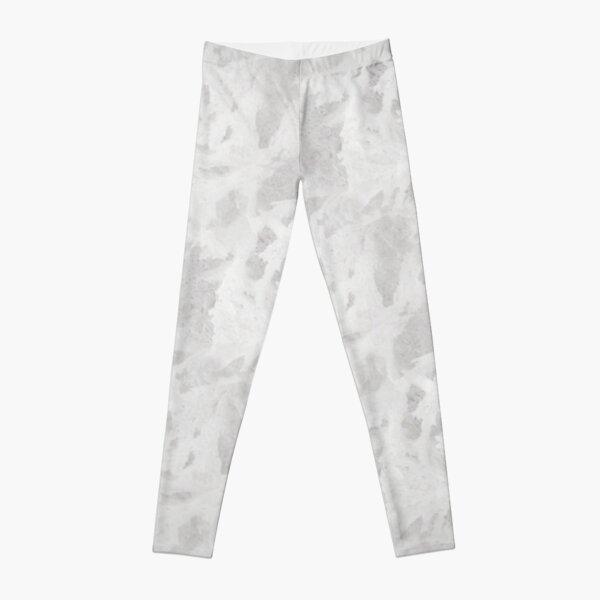 White Frost Pattern Leggings