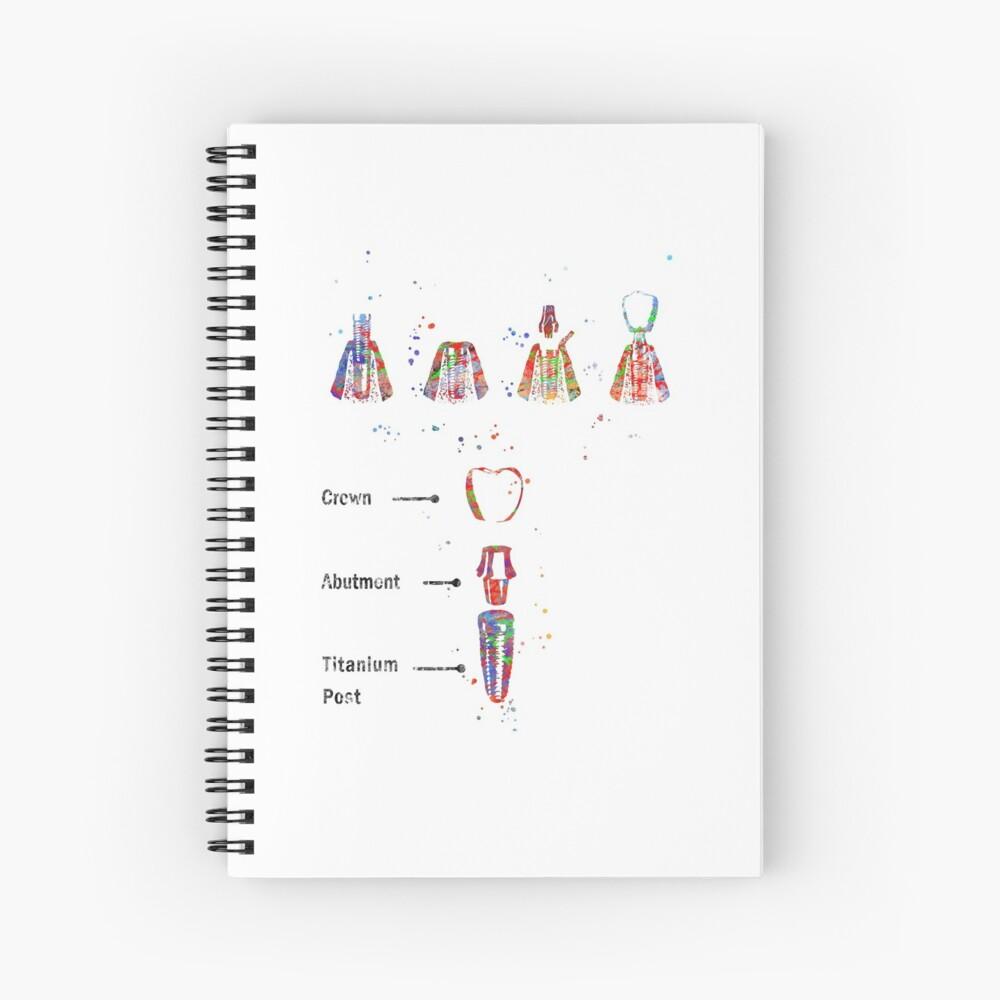Dental implant procedure, dental anatomy, dental implant Spiral Notebook