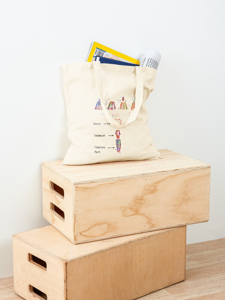 Alternate view of Dental implant procedure, dental anatomy, dental implant Tote Bag