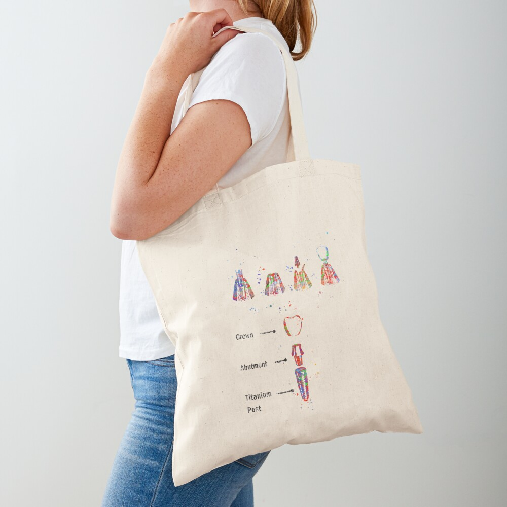 Dental implant procedure, dental anatomy, dental implant Tote Bag