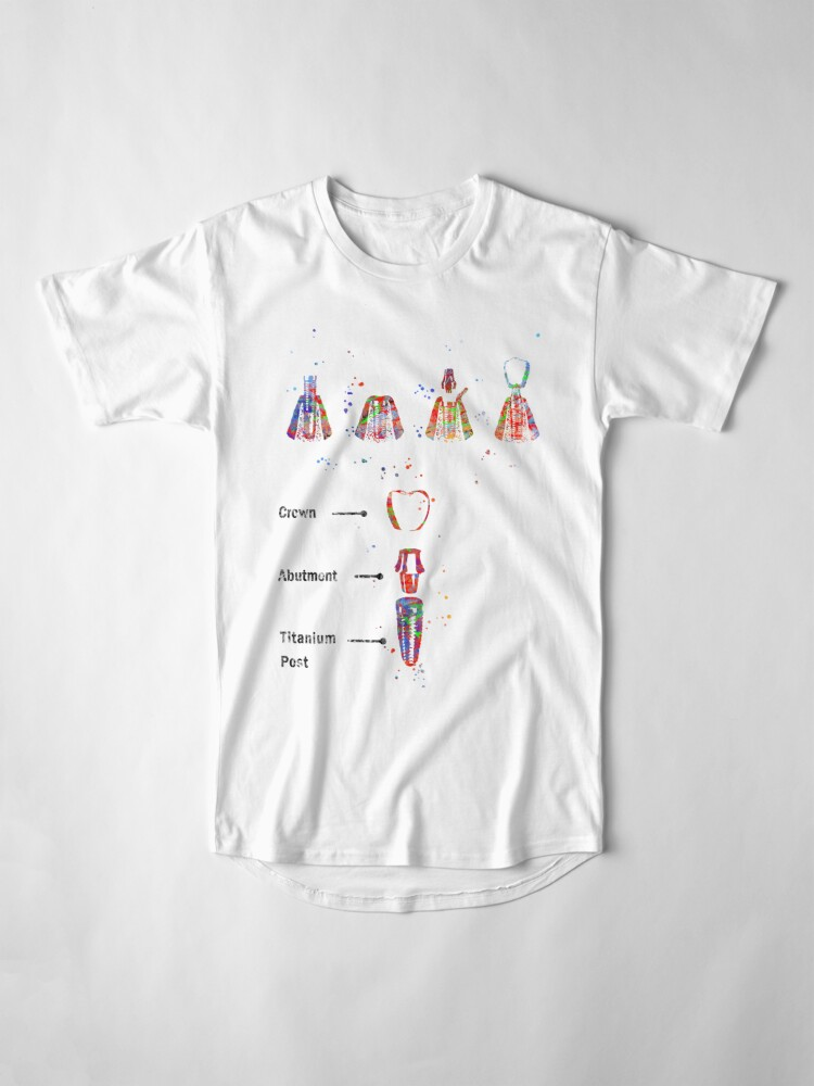Alternate view of Dental implant procedure, dental anatomy, dental implant Long T-Shirt