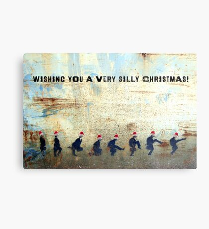 Ministry of Silly Christmas - WITH TEXT Metal Print