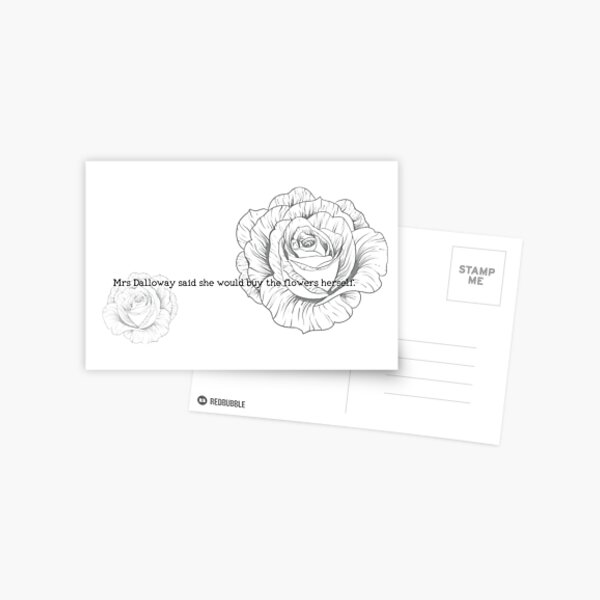 First Lines - Mrs Dalloway Postcard