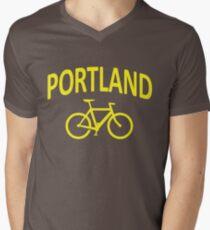 I Bike Portland, Oregon Men's V-Neck T-Shirt