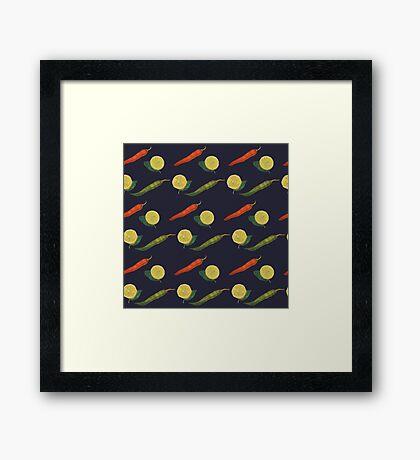 Chilli Lemon Framed Print