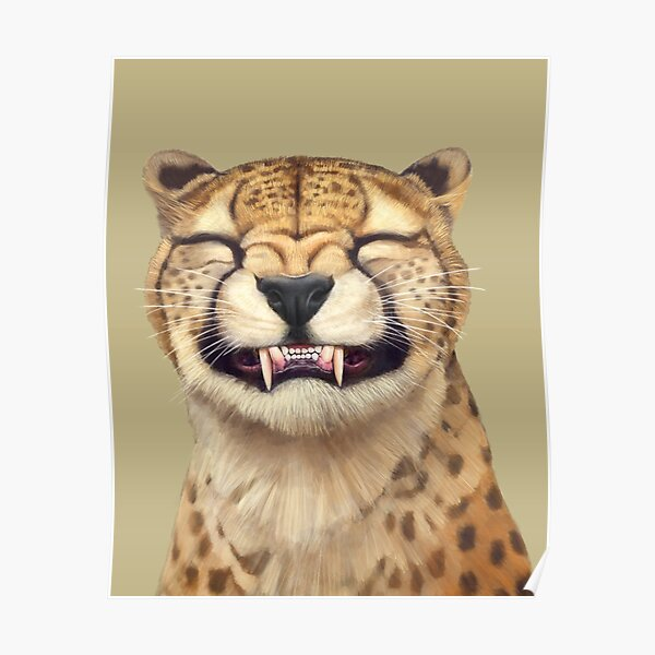 Smiling Cheetah Poster