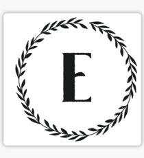 Monogram Wreath - E Sticker