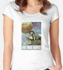 Back The Attack -- Buy War Bonds  Women's Fitted Scoop T-Shirt