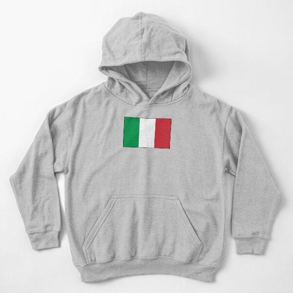 ITALY. ITALIAN. Italian Flag, Flag of Italy, 'Bandiera d'Italia', Pure and simple. Kids Pullover Hoodie
