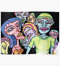 Brightly Colored Group of People Poster