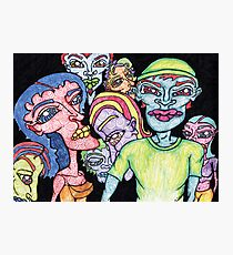 Brightly Colored Group of People Photographic Print