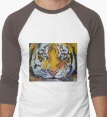 Tiger Psy Trance Men's Baseball ¾ T-Shirt