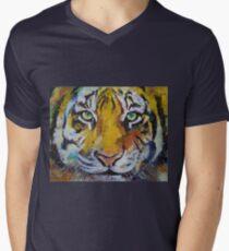 Tiger Psy Trance Mens V-Neck T-Shirt