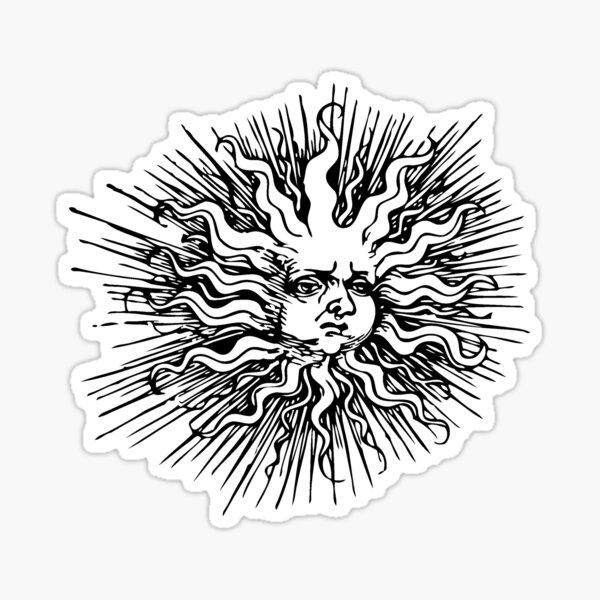 xix the sun Sticker