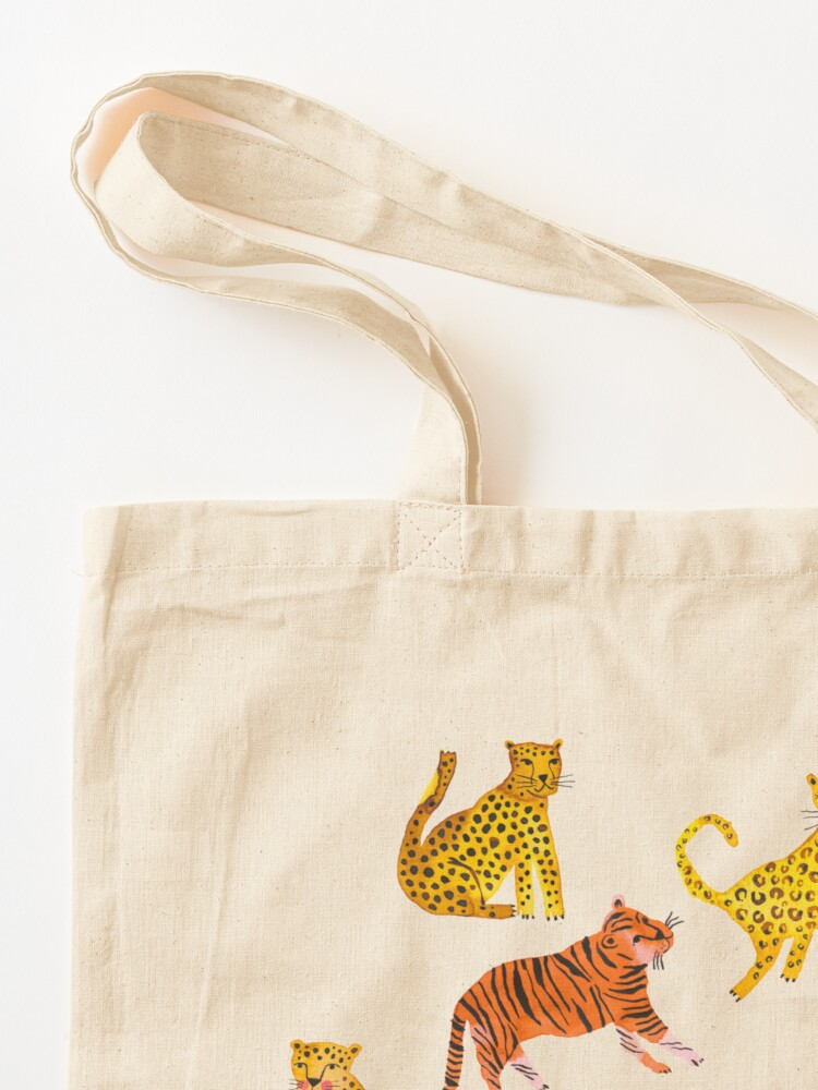 Alternate view of Tigers and Leopards Africa Savannah Tote Bag