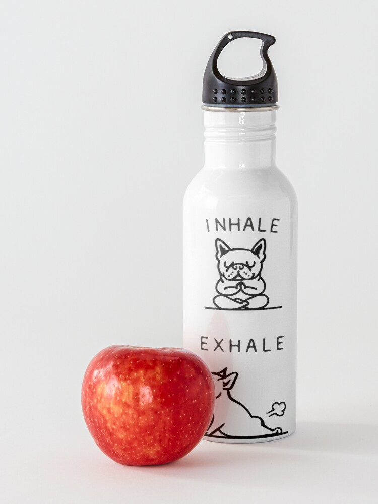 Alternate view of Inhale Exhale Frenchie Water Bottle