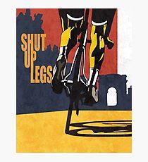 retro styled Tour de France cycling illustration poster print: SHUT UP LEGS Photographic Print