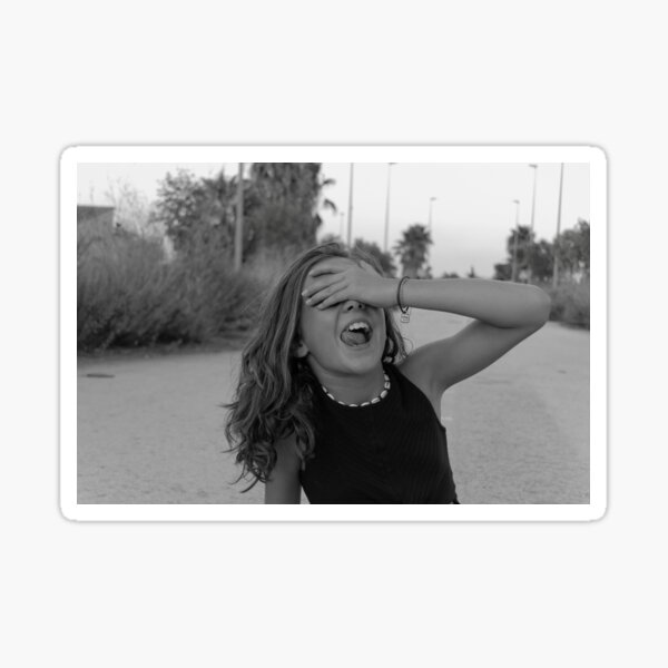 Tumblr inspired black and white photo: be carefree Sticker